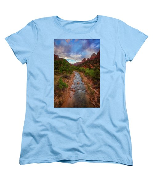 Women's T-Shirt (Standard Cut) featuring the photograph Path To Zion by Darren White