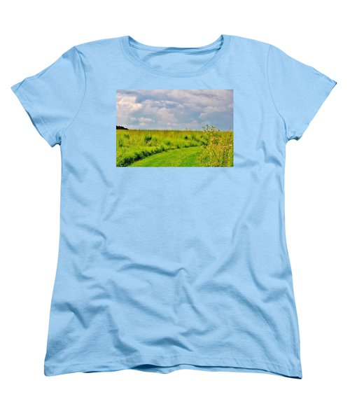 Pathway Through Wildflowers Women's T-Shirt (Standard Cut)