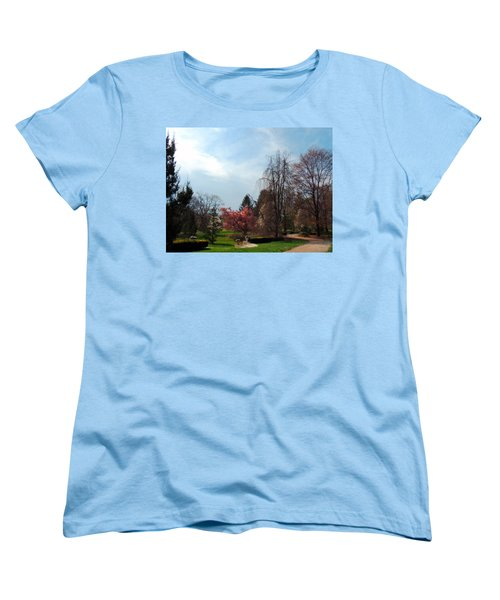 Women's T-Shirt (Standard Cut) featuring the photograph Pathway To Spring by Teresa Schomig