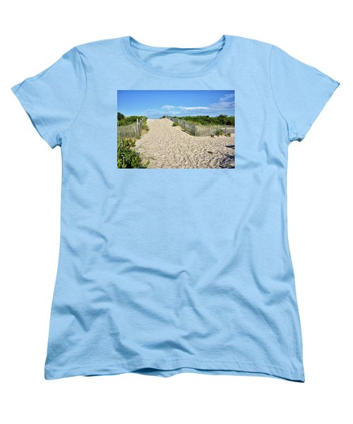 Pathway To The Beach - Delaware Women's T-Shirt (Standard Cut) by Brendan Reals