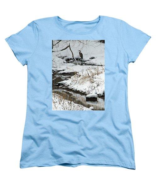 Women's T-Shirt (Standard Cut) featuring the photograph Patiently Waiting 1 by Paula Guttilla