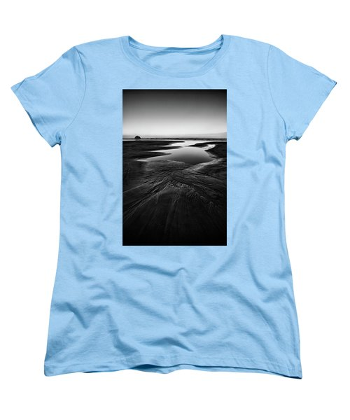 Women's T-Shirt (Standard Cut) featuring the photograph Patterns In The Sand by Jon Glaser