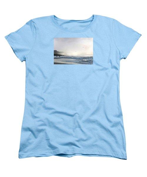 Women's T-Shirt (Standard Cut) featuring the digital art Pawleys Island Morning Mist by Deborah Smith