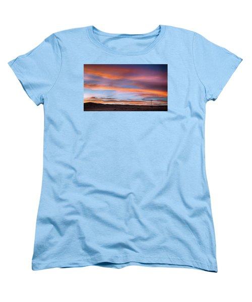 Pawnee Sunset Women's T-Shirt (Standard Cut) by Monte Stevens