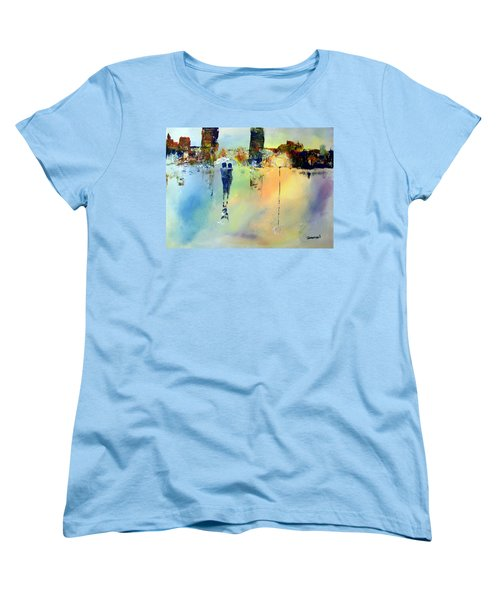 Peace At Twilight Women's T-Shirt (Standard Cut) by Raymond Doward