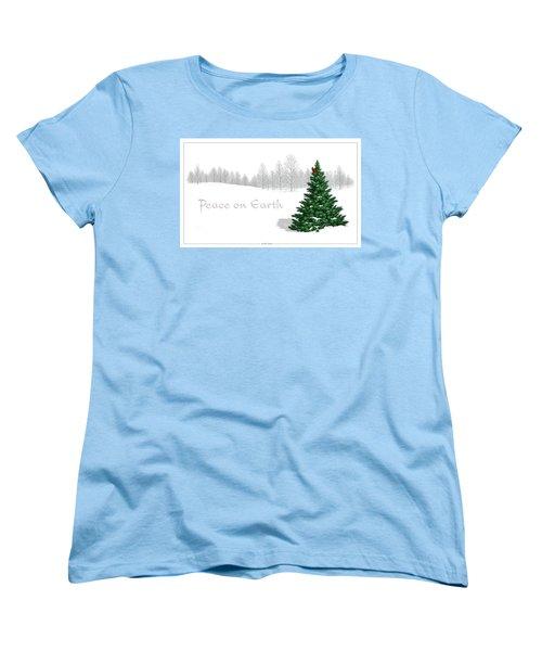 Peace On Earth Women's T-Shirt (Standard Cut) by Scott Ross