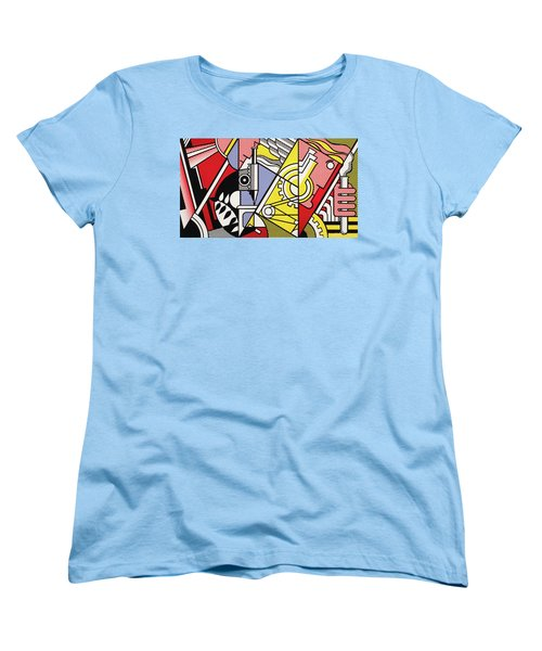 Peace Through Chemistry I Women's T-Shirt (Standard Cut) by Roy Lichtenstein