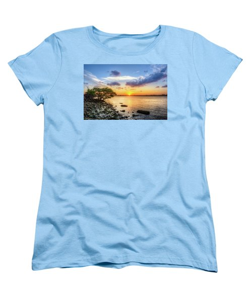 Women's T-Shirt (Standard Cut) featuring the photograph Peaceful Evening On The Waterway by Debra and Dave Vanderlaan
