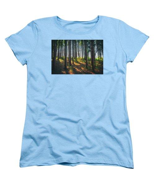 Peaceful Forest - Spring At Retzer Nature Center Women's T-Shirt (Standard Cut) by Jennifer Rondinelli Reilly - Fine Art Photography