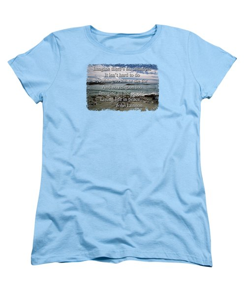 Peaceful Pacific Beach Women's T-Shirt (Standard Cut) by Richard Farrington