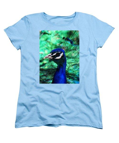 Women's T-Shirt (Standard Cut) featuring the photograph Peacock by Joseph Frank Baraba