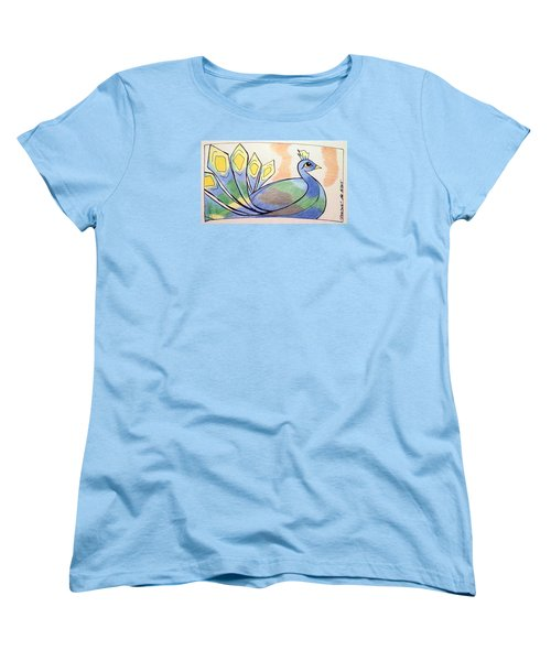 Peacock Women's T-Shirt (Standard Cut) by Loretta Nash