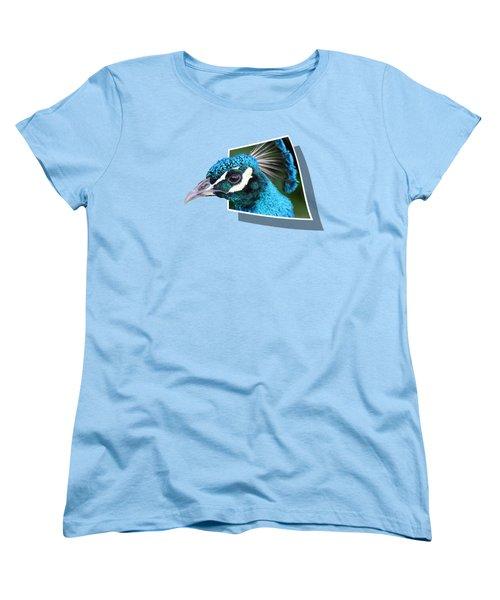 Peacock Women's T-Shirt (Standard Cut) by Shane Bechler