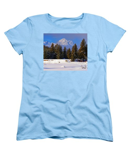 Peaking Through Women's T-Shirt (Standard Cut) by Greg Norrell