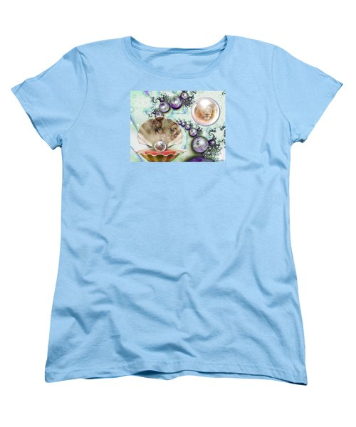 Women's T-Shirt (Standard Cut) featuring the digital art Pearl Of Great Price by Dolores Develde