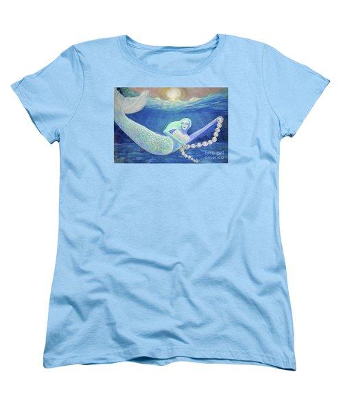 Pearl Of The Sea Women's T-Shirt (Standard Cut) by Lyric Lucas