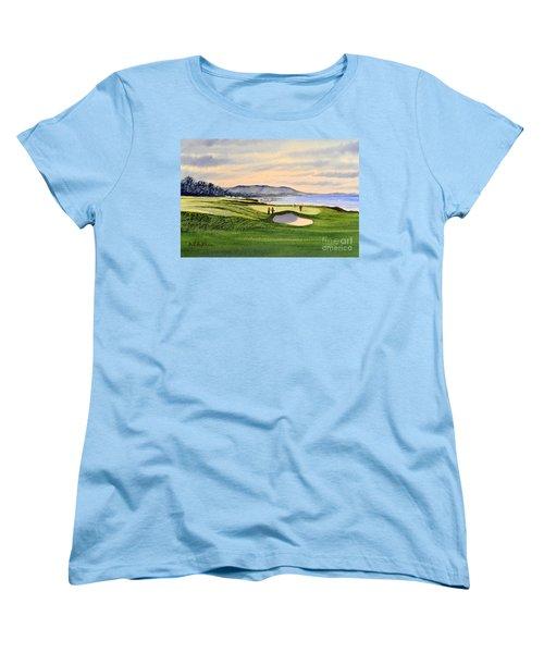 Pebble Beach Golf Course Women's T-Shirt (Standard Cut) by Bill Holkham