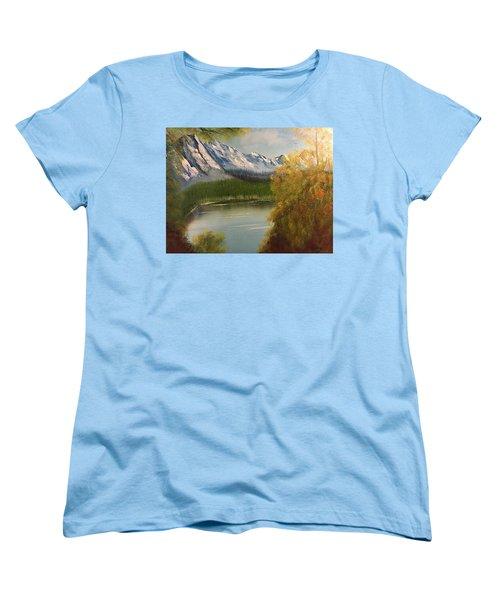 Peek-a-boo Mountain Women's T-Shirt (Standard Cut)