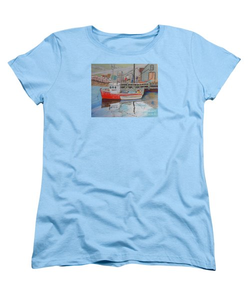 Peggy's Cove  Fishermen Women's T-Shirt (Standard Cut) by Rae  Smith