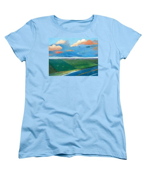Women's T-Shirt (Standard Cut) featuring the painting Peggy's Road by Gary Coleman
