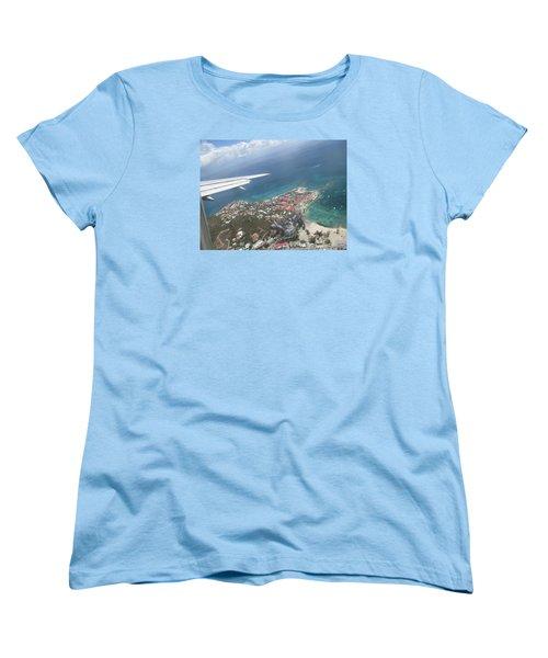 Pelican Key St Maarten Women's T-Shirt (Standard Cut) by Christopher Kirby