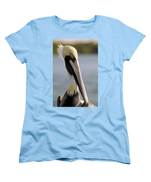 Women's T-Shirt (Standard Cut) featuring the photograph Pelican Portrait by Sally Weigand