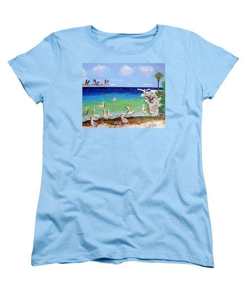 Pelicans Women's T-Shirt (Standard Cut) by Vicky Tarcau