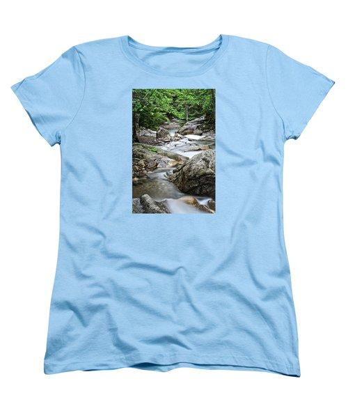 Pemigewasset River Nh Women's T-Shirt (Standard Cut) by Michael Hubley