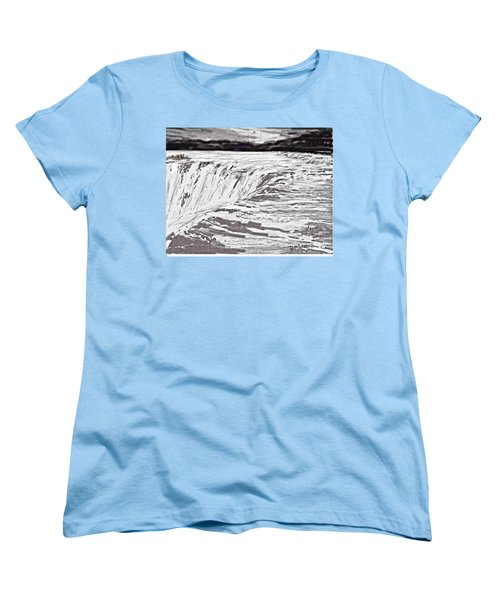 Pencil Falls Women's T-Shirt (Standard Cut) by Desline Vitto