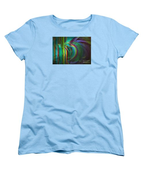 Penetrated By Life - Abstract Art Women's T-Shirt (Standard Cut) by Sipo Liimatainen