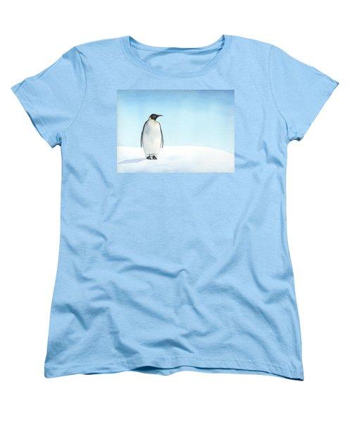 Penguin Watercolor Women's T-Shirt (Standard Cut) by Taylan Apukovska