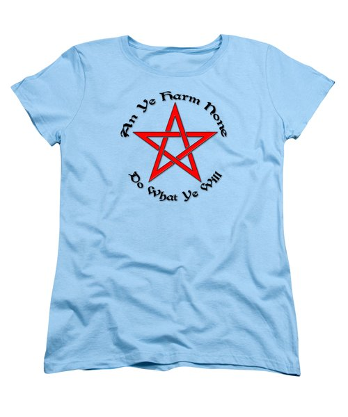 Pentagram Women's T-Shirt (Standard Cut) by Bob Slitzan