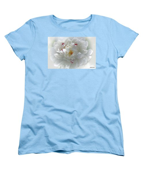 Women's T-Shirt (Standard Cut) featuring the photograph Peony by Bonnie Willis