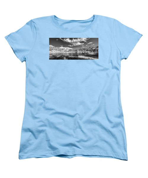 Women's T-Shirt (Standard Cut) featuring the photograph Perfect Lake At Mount Baker by Jon Glaser