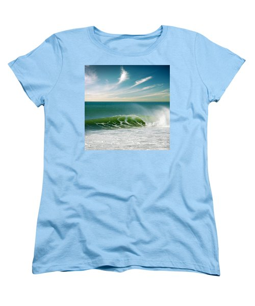 Perfect Wave Women's T-Shirt (Standard Cut) by Carlos Caetano