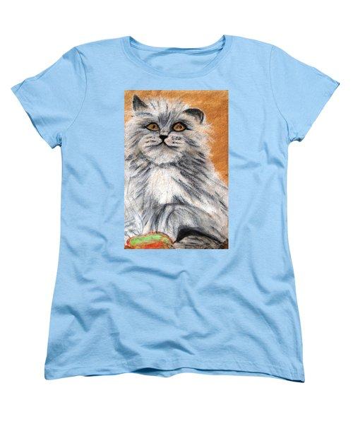 Persian Cat Women's T-Shirt (Standard Cut) by Angela Murray