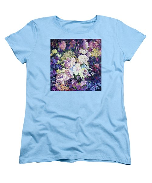 Women's T-Shirt (Standard Cut) featuring the painting Petals by Joanne Smoley