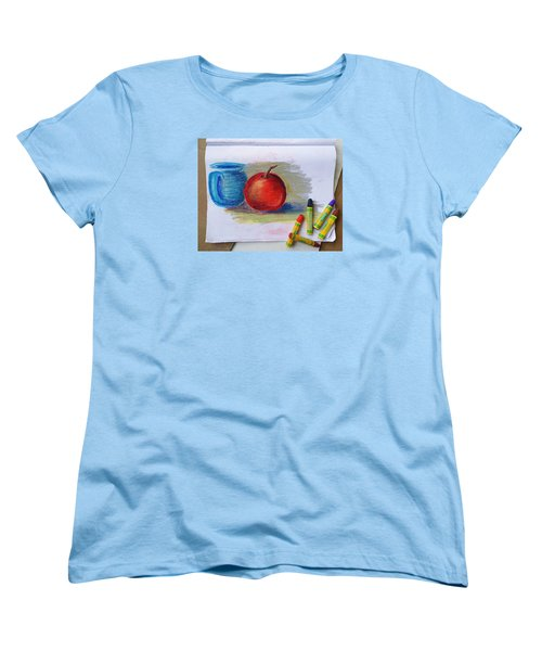 Women's T-Shirt (Standard Cut) featuring the drawing Petit Exercice En Pastel L'huile by Ginny Schmidt