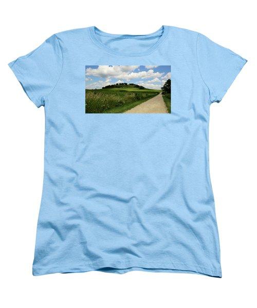 Women's T-Shirt (Standard Cut) featuring the photograph Pheasant Branch Hill by Kimberly Mackowski