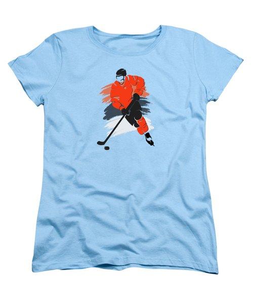 Philadelphia Flyers Player Shirt Women's T-Shirt (Standard Cut) by Joe Hamilton