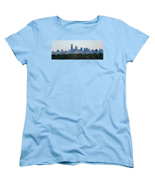 Philadelphia Green Skyline Women's T-Shirt (Standard Cut) by Ian  MacDonald