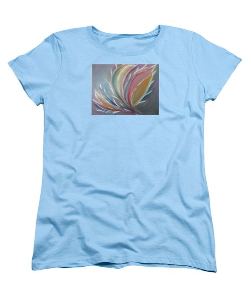 Women's T-Shirt (Standard Cut) featuring the painting Phoenix Rising by Sharyn Winters