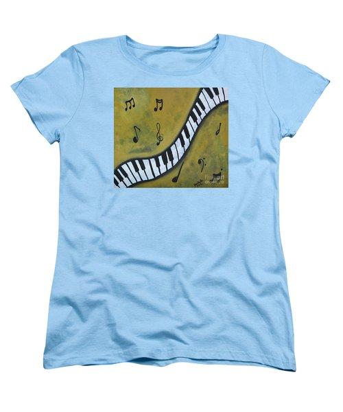 Piano Music Abstract Art By Saribelle Women's T-Shirt (Standard Cut)