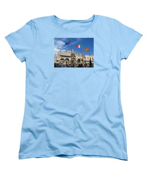 Piazza San Marco Venice Women's T-Shirt (Standard Cut) by Lisa Boyd