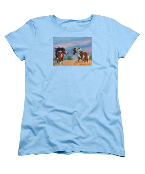 Women's T-Shirt (Standard Cut) featuring the painting Picasso Challenge by Karen Kennedy Chatham