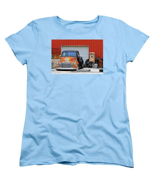 Women's T-Shirt (Standard Cut) featuring the photograph Pickup Chevrolet by Christopher McKenzie