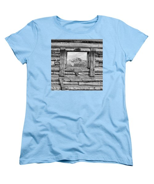 Women's T-Shirt (Standard Cut) featuring the photograph Picture Window #2 by Eric Glaser
