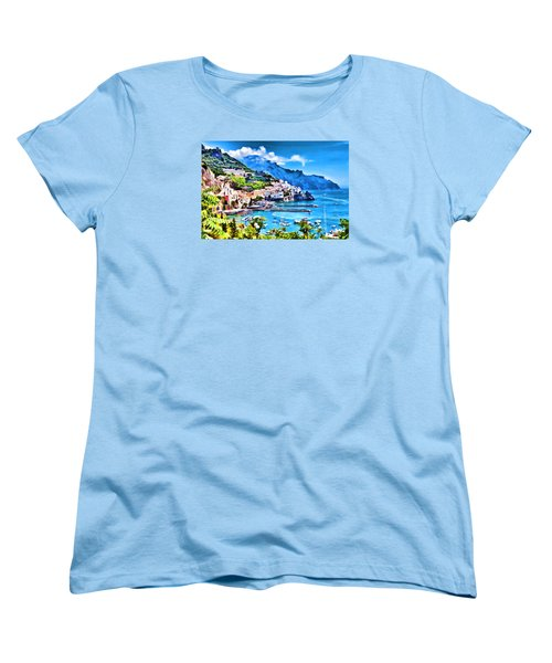 Picturesque Italy Series - Amalfi Women's T-Shirt (Standard Cut) by Lanjee Chee