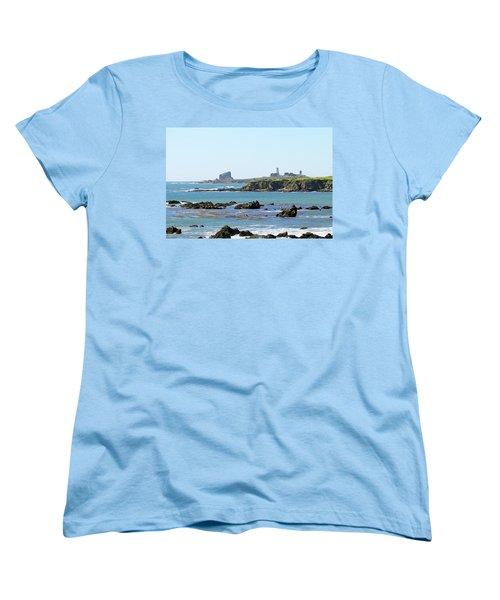 Women's T-Shirt (Standard Cut) featuring the photograph Piedras Blancas Lighthouse by Art Block Collections
