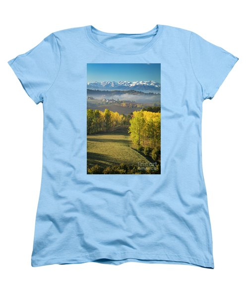 Women's T-Shirt (Standard Cut) featuring the photograph Piemonte Morning by Brian Jannsen